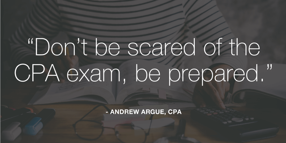 don't be scared of the CPA exam, be prepared.