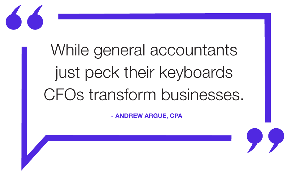 while general accountants peck their keywords, cfos transform businesses