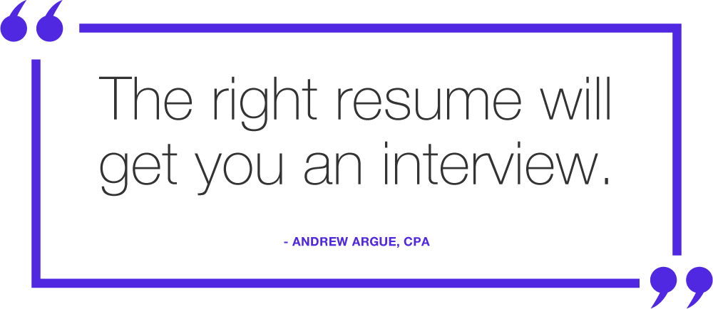 the right accounting resume will get you an interview