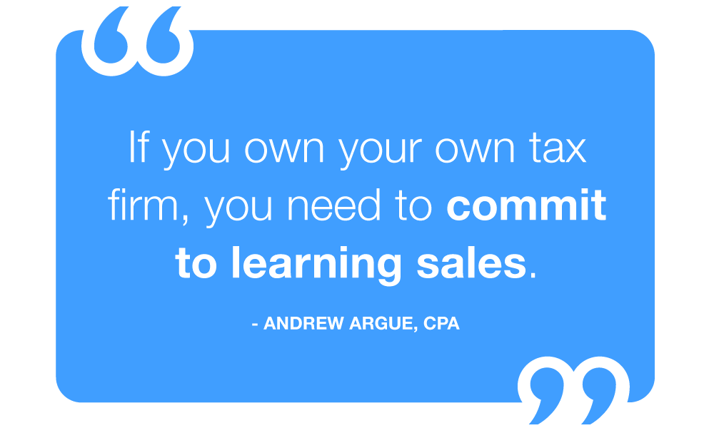 if you own an accounting firm, you need to commit to learning sales