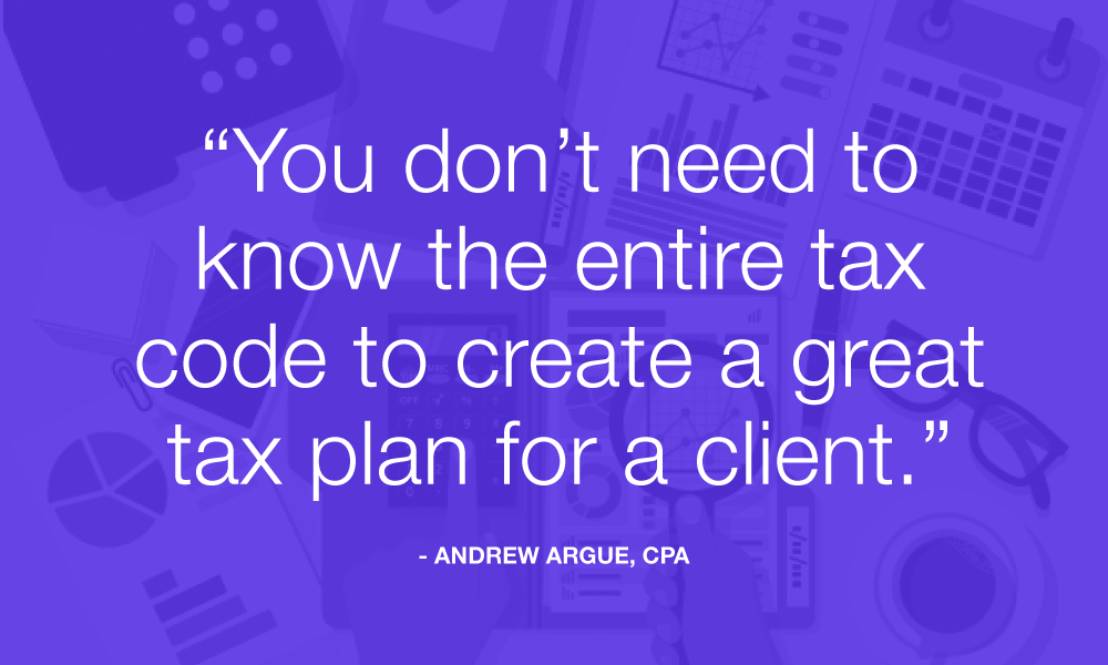 you dont need to know the entire tax code to create a tax plan