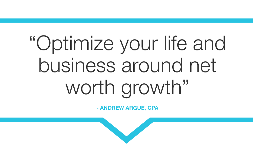 optimize your life and business around net worth growth