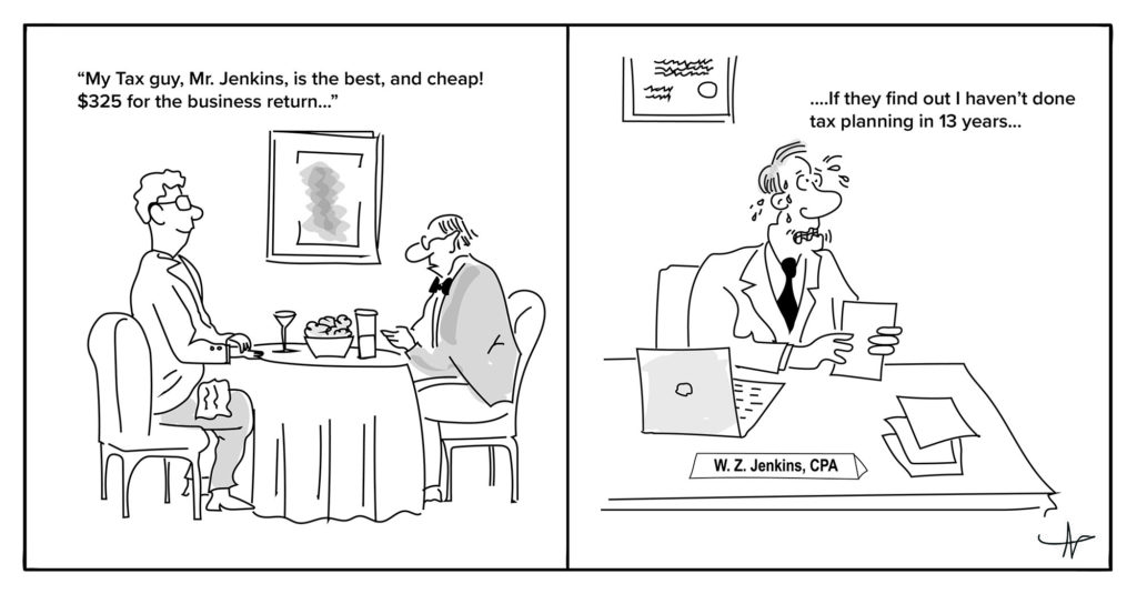accounting cartoon for tax planning