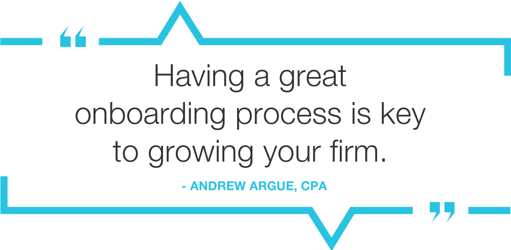 quote image having a great onboarding process is key to growing your firm