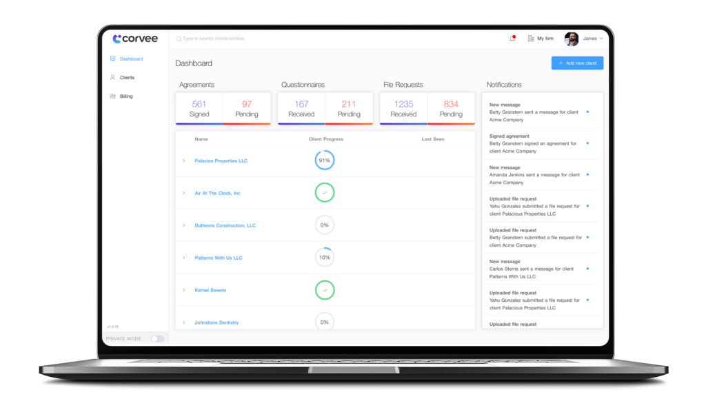 Every Single Client Request Tracked and Received in One Secure Portal