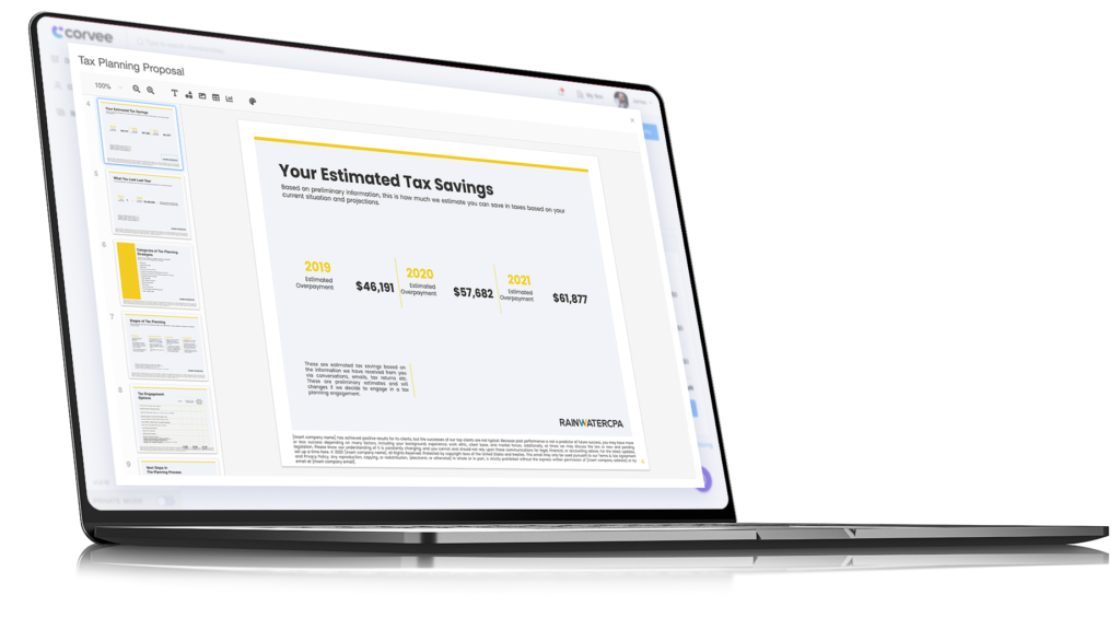Generate a Professional Tax Plan for Your Clients Automatically
