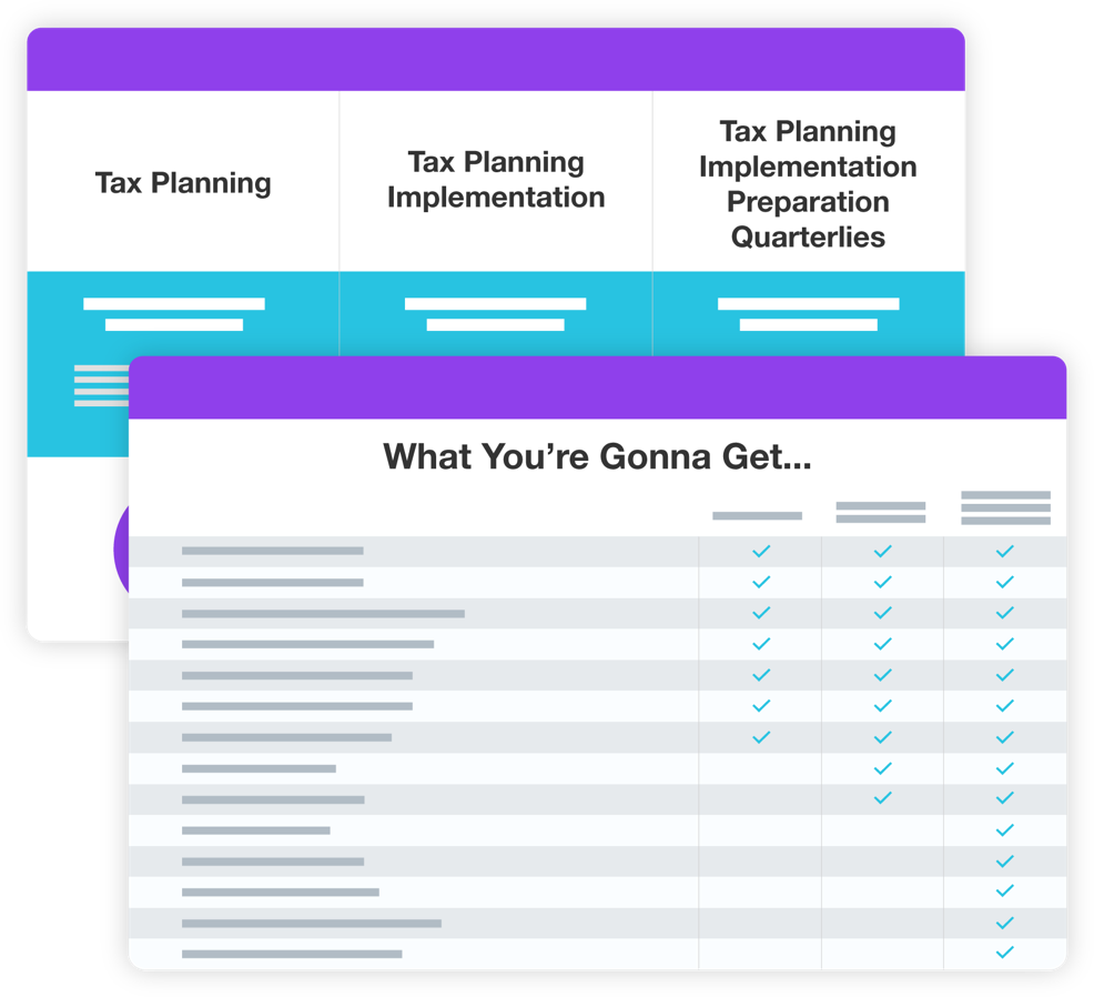 Present a Stack of Services to Visualize Value