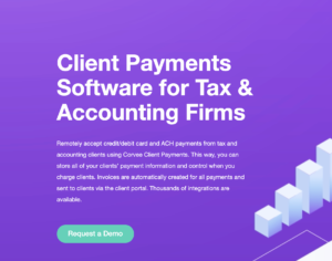 Corvee- Client Payments PAge